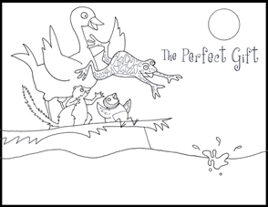 The Perfect Gift coloring page by Mary Newell DePalma #1